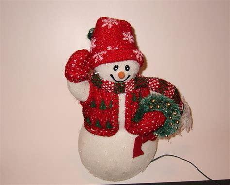 Avon Fiber Optic Decorations by Fiber Optic Snowman Avon Snowmen