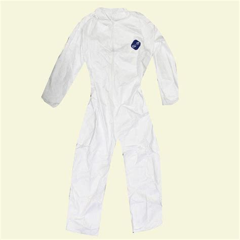 tyvek xl white  elastic coverall hd  home depot