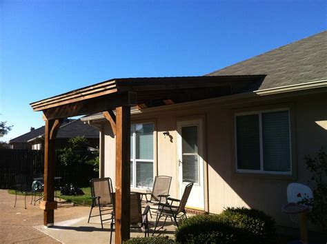 small patio cover perfectly shades patio in mckinney tx