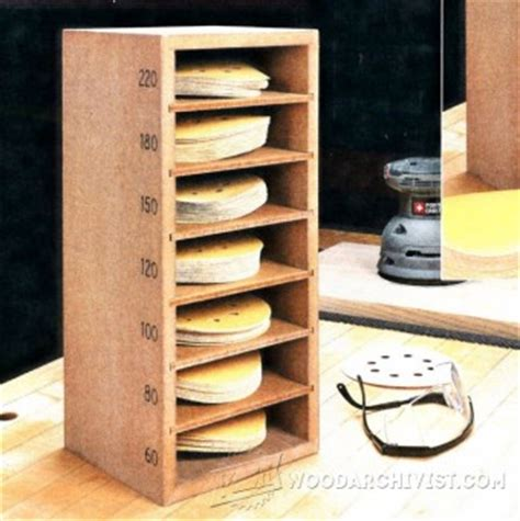 sandpaper storage cabinet plans woodarchivist