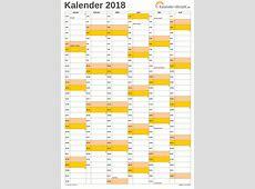 EXCELKALENDER 2018 KOSTENLOS