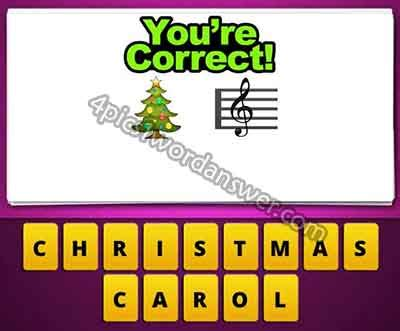 Guess The Emoji Christmas Tree And Music Note  4 Pics 1