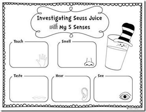 preschool dr seuss lesson plans 13 best images of 5 senses worksheets for toddlers five 809