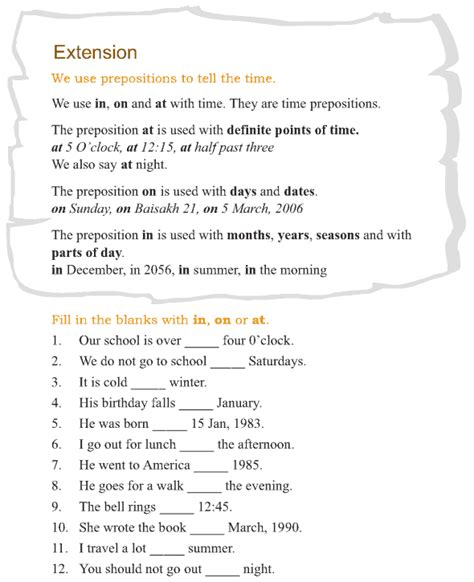 grade 3 grammar lesson 13 prepositions 4 teaching