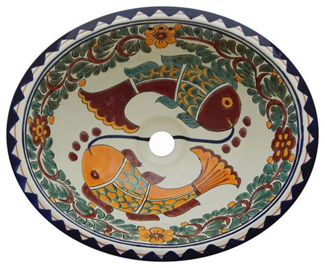 mexican hand painted sinks color y tradicion mexican talavera ceramic hand painted