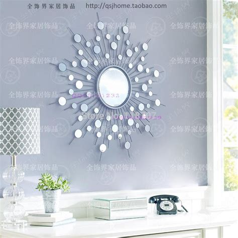 Wall Decor by Aliexpress Buy Metal Wall Mirror Decor Modern