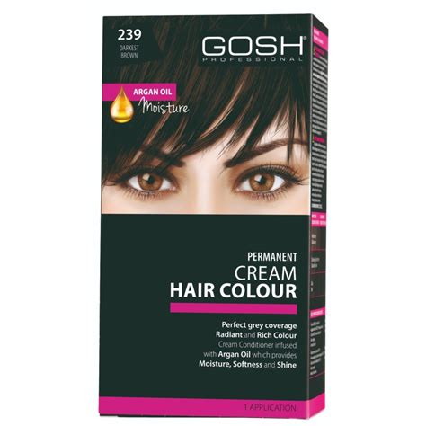 Hair Color Darkest Brown by Gosh Hair Colour 239 Darkest Brown 3 0