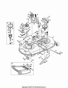 Mtd 13ax795t004  2011  Parts Diagram For Mower Deck 46