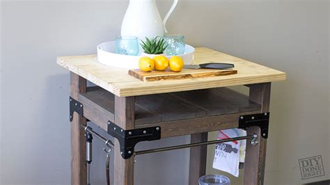 mobile kitchen island diy