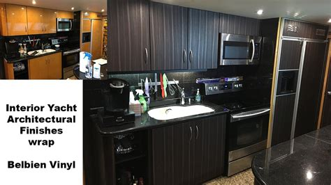 kitchen cabinet wraps interior yacht wrap using belbien architectural finishes 2855