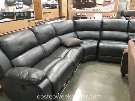 gray sectional sofa costco leather sectional recliner costco chairs seating