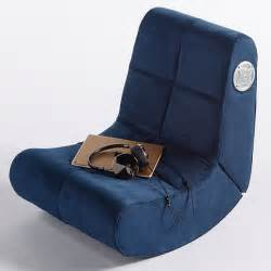 suede mini rocker speaker chair pbteen