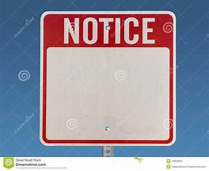 Blank Notice Sign Stock Photo - Image: 16804060
