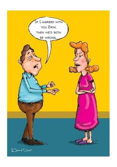 Husband Wife Cartoon Birthday Wrong Both Why