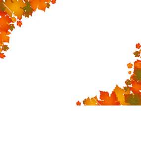 Fall Autumn Leaves Clip Art Borders