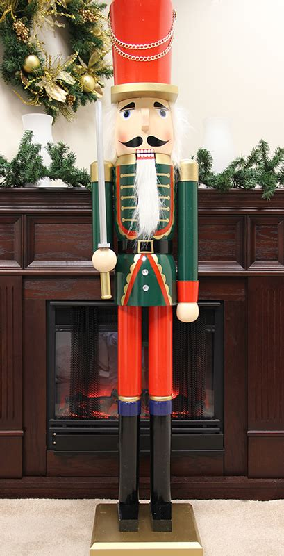 5 foot commercial size green soldier decorative christmas