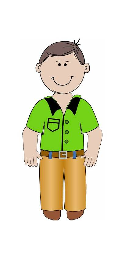 Cartoon Clipart Person Standing Clip Animated Cliparts