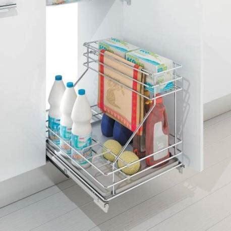 meuble cuisine en kit panier coulissant aménagement sous évier accessoires de