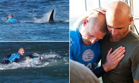 Mick Fanning Fights Off A Shark As It Attacked Him During