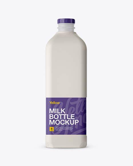 Editable jug, lid and reflection color. Free Mockups 2L Frosted Plastic Milk Jug Mockup - Front ...