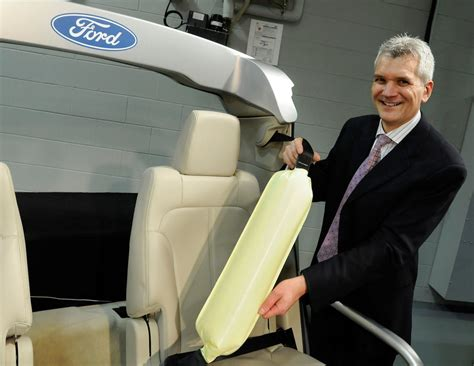 ford licensing inflatable seat belt  broaden  motor