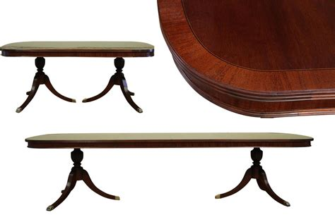 two leaf dining table formal double pedestal mahogany dining table with 2 leaves