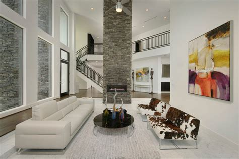 Contemporary Living Room Accent Wall modern accent wall contemporary living room