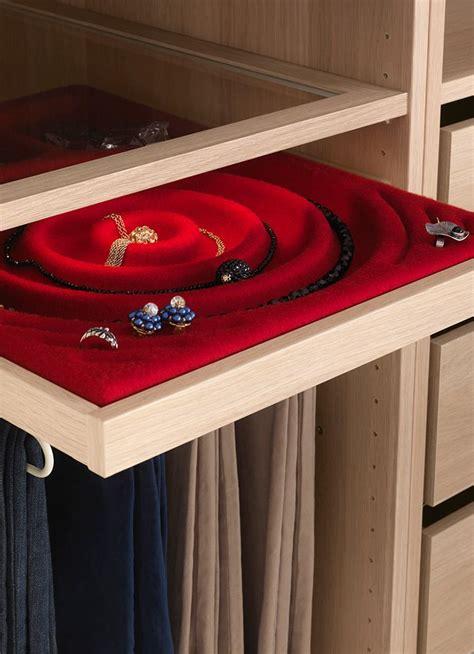 ikea storage balda con accesorio de fieltro para joyas y bisuteria la