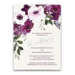 programs for weddings templates burgundy plum floral watercolor wedding invitations