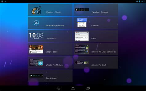 widget for android onelouder apps 1weather hits v2 brings new ui tablet