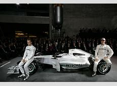 MercedesBenz presents Mercedes GP Petronas F1 team