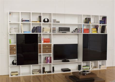 wall unit tv bookcase pombal bookcase tv unit with black doors bookcases
