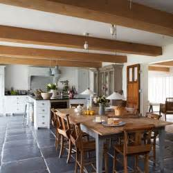 kitchens and interiors farmhouse style kitchen diner with large wooden dining table modern country house in