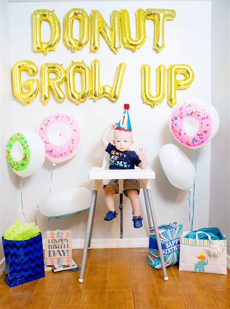 Donut Grow Up 1st Birthday Party  Friday We're In Love