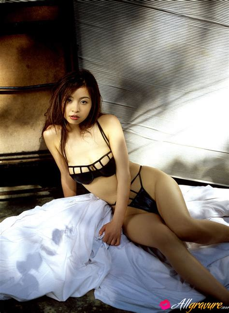 long haired asian babe posing   delicious body