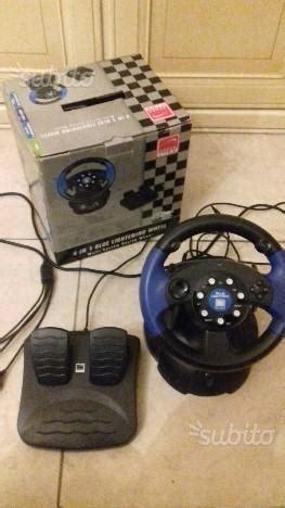 volante e pedaliera pc volante ps2 con pedali acceleratore e freno posot class