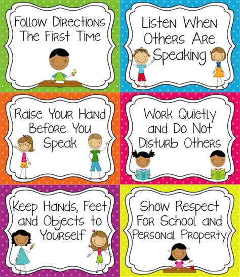 classroom that are tangible and easy for younger 676 | 3aa40c5cd69100590e29e08451d8d5ca classroom rules for kindergarten preschool rules