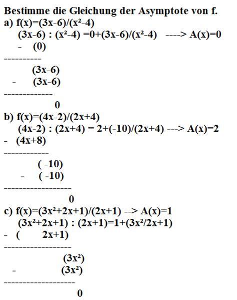 asymptote berechnen von  mathelounge