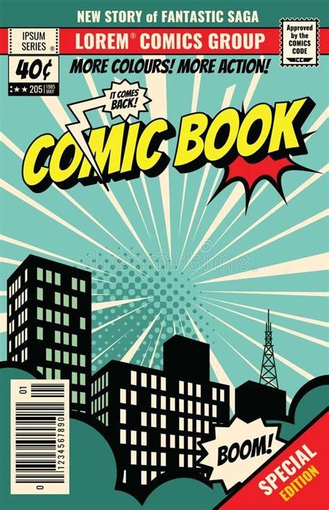retro magazine cover vintage comic book vector template