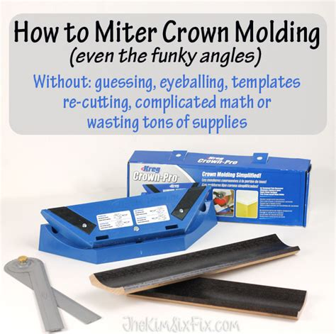 how to cut crown molding angles for kitchen cabinets how to miter crown molding at any angle moldings crown 9891
