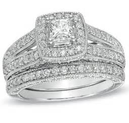 used wedding ring sets bridal sets bridal sets white gold princess cut