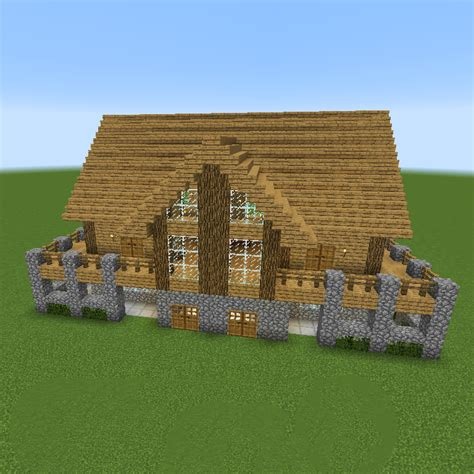 classic minecraft house unfurnished creation