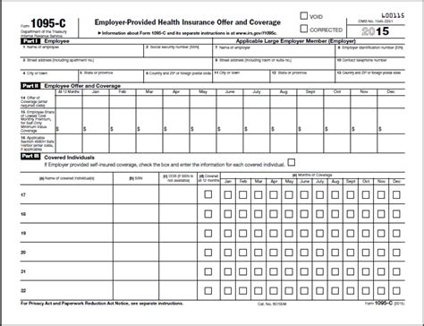 aca tax forms affordable care act reporting forms