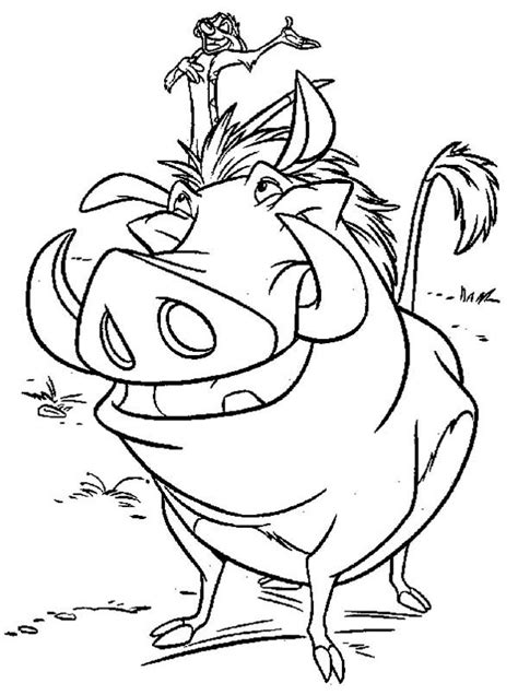Kleurplaat Pumba by Timon And Pumbaa Is Best Friend Coloring Page Timon And