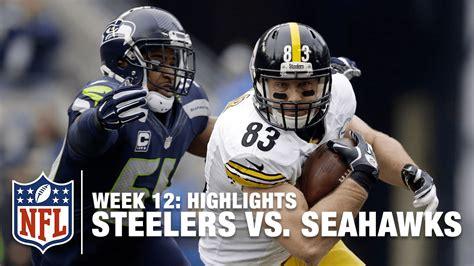 steelers  seahawks week  highlights nfl youtube