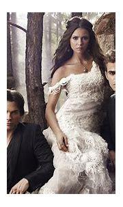 Damon Salvatore Stefan Salvatore Elena Gilbert In White ...