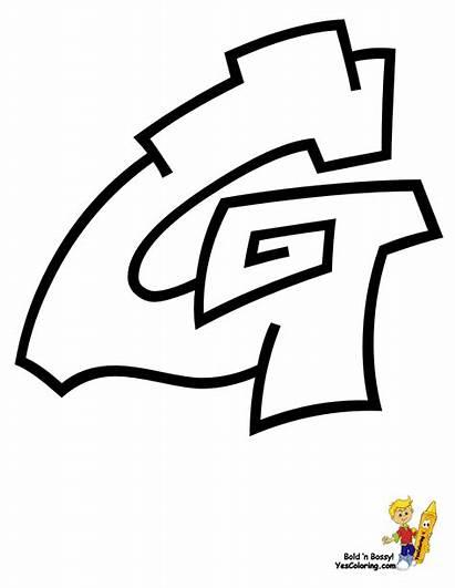Coloring Graffiti Letter Abc Pages Cool Alphabet