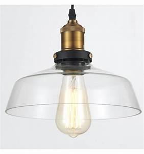 Suspension Luminaire En Verre Transparent : suspension gamelle industrielle verre transparent cydia ~ Teatrodelosmanantiales.com Idées de Décoration