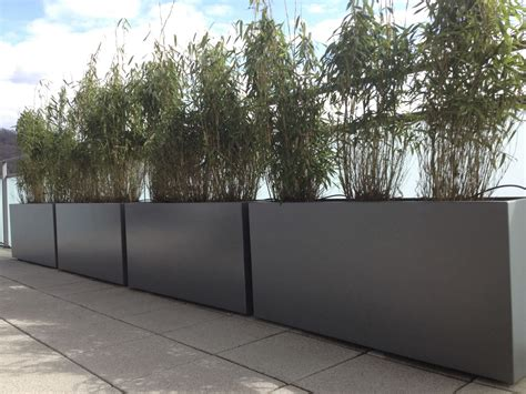 contemporary planter boxes with modern rectangle gray cement planter for spaces design