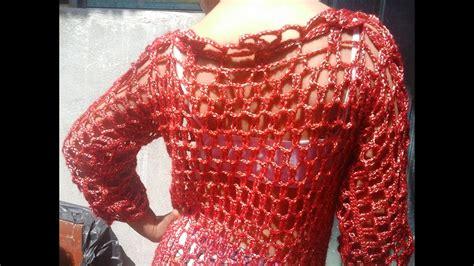 blusa en crochet parte 1 todas las tallas youtube